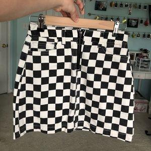 vintage OU checkered skirt